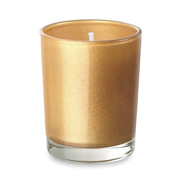 Malá svíčka ve skleničce - SELIGHT - zlatá