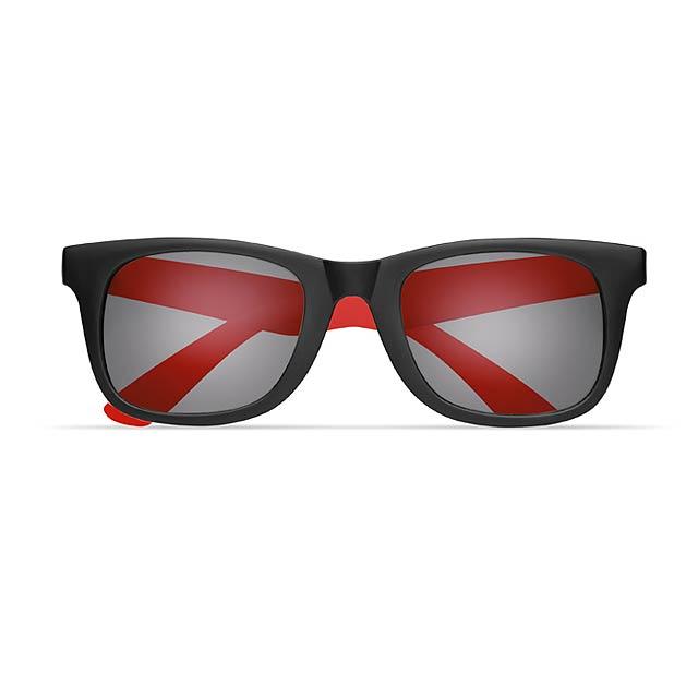 2 tone sunglasses - AUSTRALIA - red