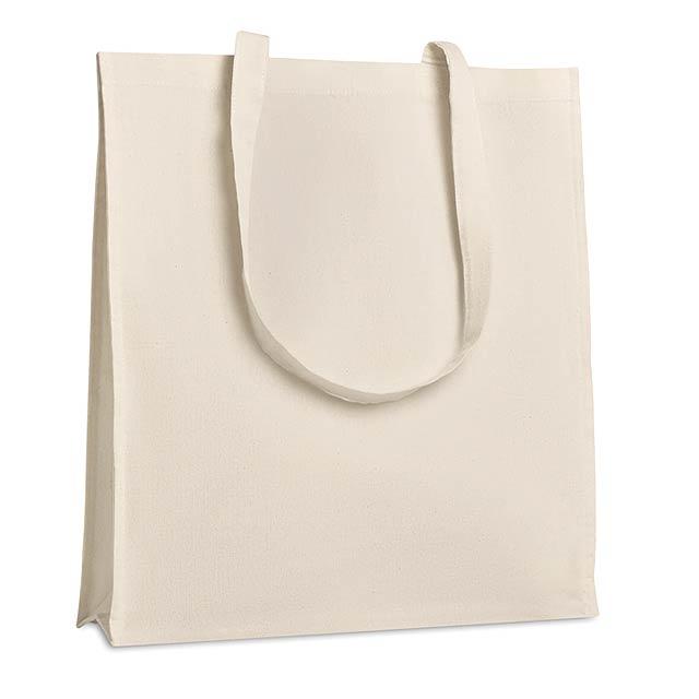 Nákupní taška se vsadkou - TROLLH#TTAN - béžová