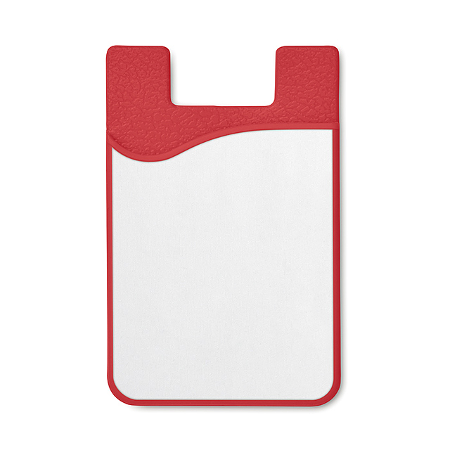 Sublimation silicone cardholderMO9073-05 - SUBLICARD - red