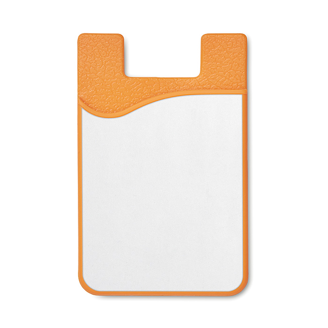 Sublimation silicone cardholderMO9073-10 - SUBLICARD - orange