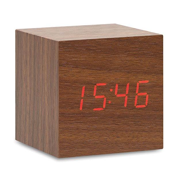LED hodiny z MDF - BUENOS AIRES MINI - dřevo