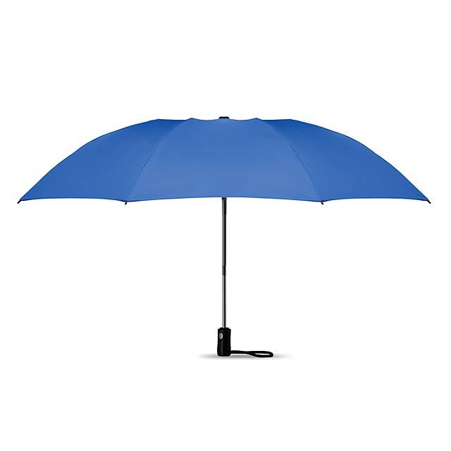 Skládací oboustranný deštník - DUNDEE FOLDABLE - královsky modrá