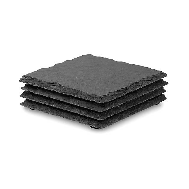 Břidlicové podložky - SLATE4 - černá