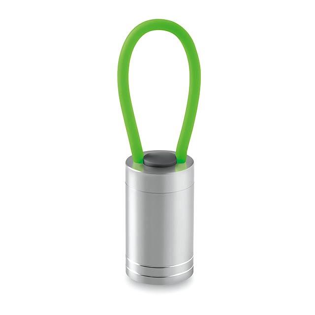 Hliníková baterka - GLOW TORCH - zelená