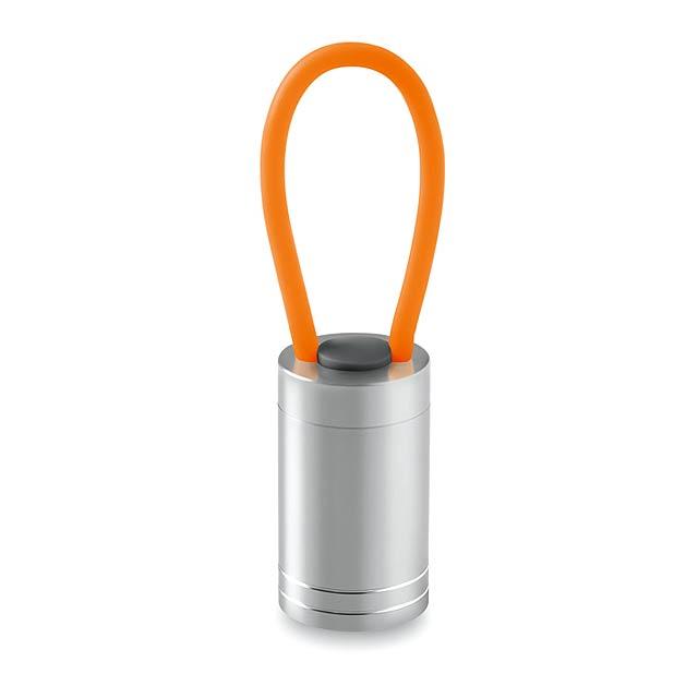 Hliníková baterka - GLOW TORCH - oranžová
