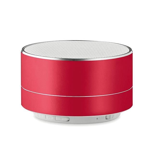 3W Bluetooth reproduktor hliník - SOUND - červená