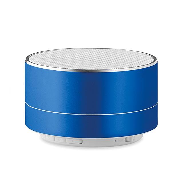 3W Bluetooth hliníkový reproduktor  - Sound - královsky modrá