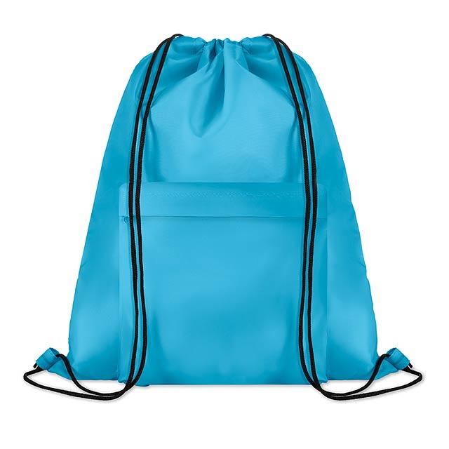 Velký batoh se šňůrkami - Pocket Shoop - tyrkysová
