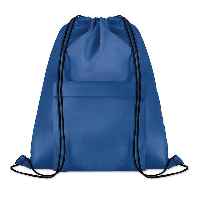 Velký batoh se šňůrkami - Pocket Shoop - královsky modrá 32525252a5