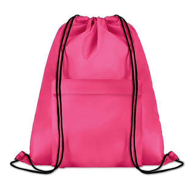 Velký batoh se šňůrkami - Pocket Shoop - fuchsiová (tm. růžová)