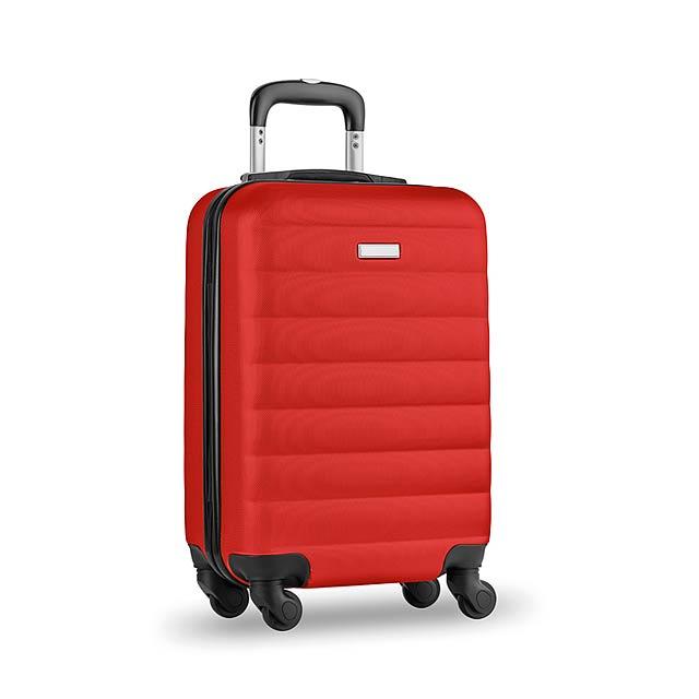 Skořepinový kufr - Budapest - červená