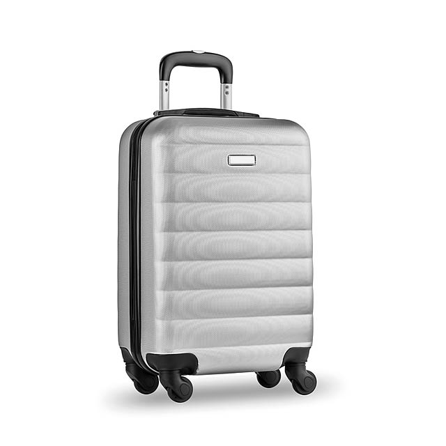 Skořepinový kufr - Budapest - stříbrná mat