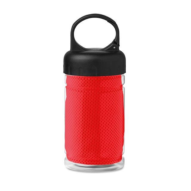 Láhev z tritanu s ručníkem - Fris - červená