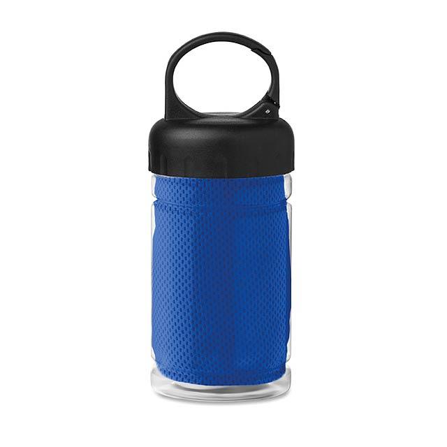 Láhev z tritanu s ručníkem - Fris - královsky modrá