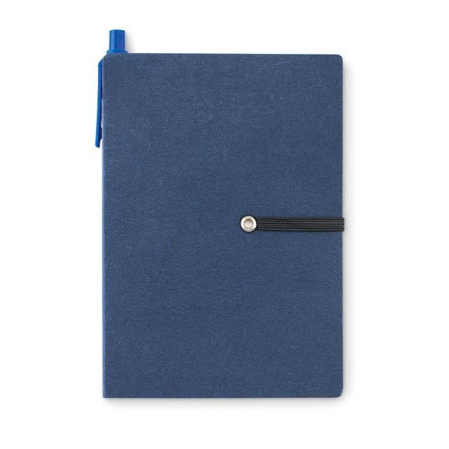 Recyklovaný zápisník - Reconote - modrá