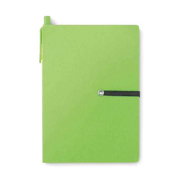 Recyklovaný zápisník - Reconote - zelená