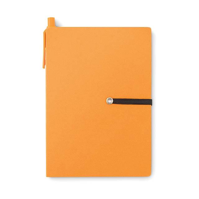 Recyklovaný zápisník - Reconote - oranžová