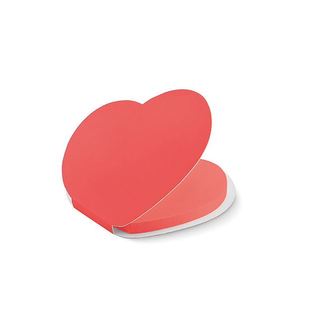 Heart shape sticky notes - MO9216-05 - red