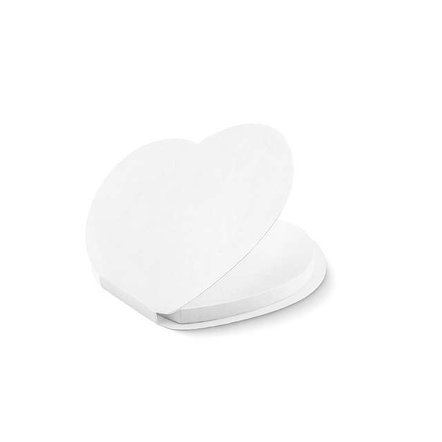 Heart shape sticky notes - MO9216-06 - white