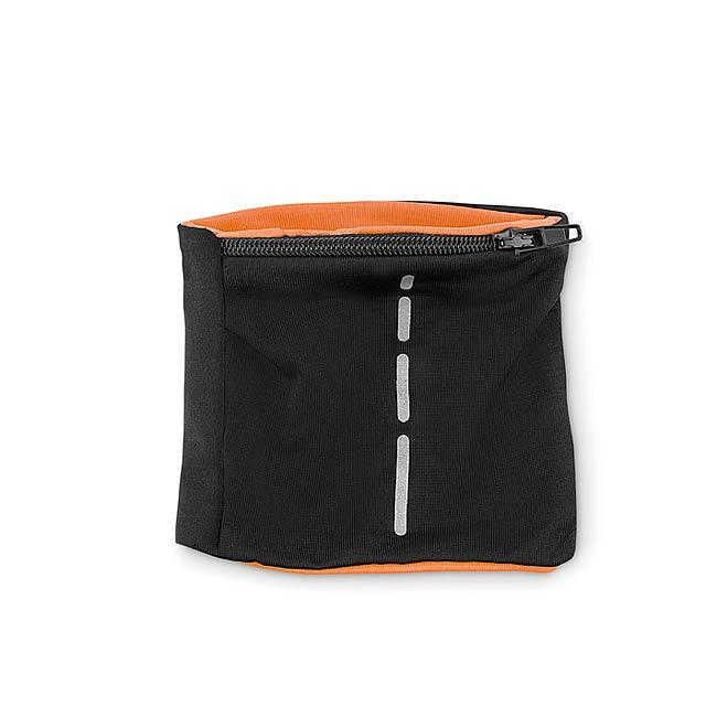 Potítko s kapsou - Runband - oranžová
