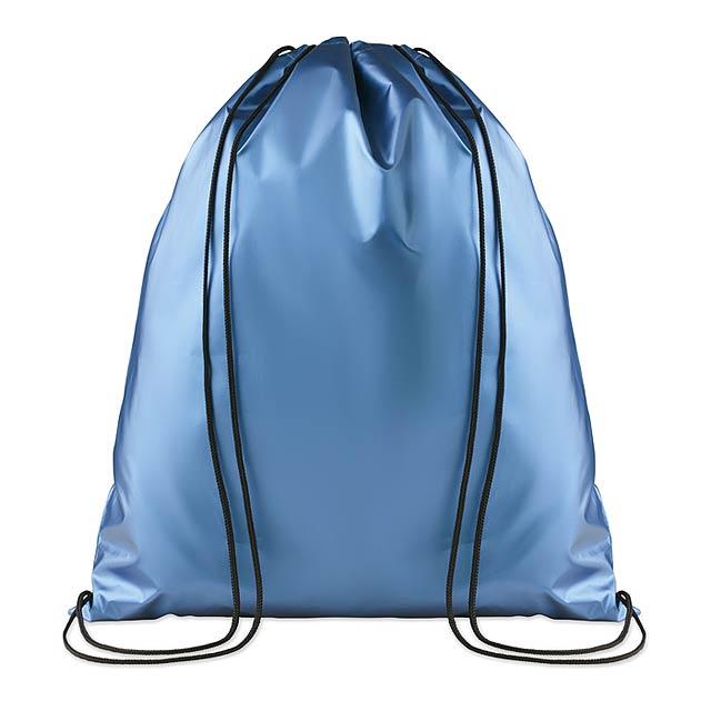 Laminovaný batoh se šňůrkami - New York - modrá