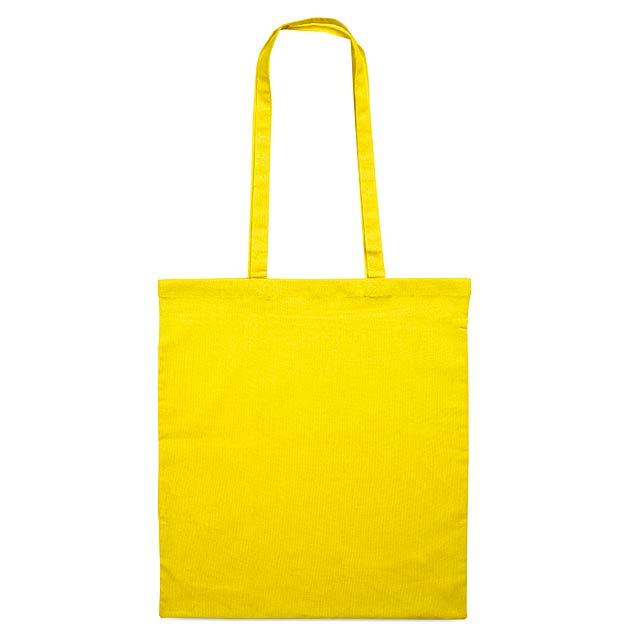Barevná nákupní taška - Cottonel + - žlutá