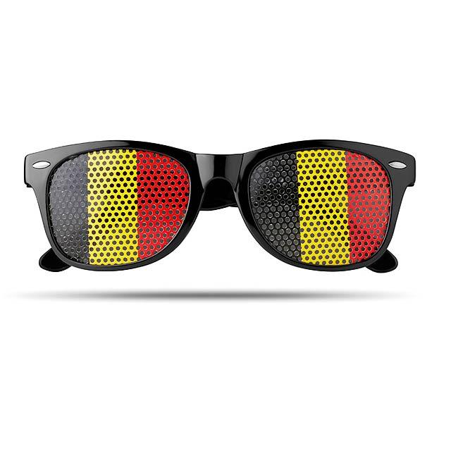 Sluneční brýle s vlajkami - Flag Fun - černá