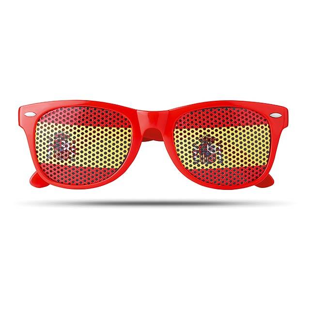 Sluneční brýle s vlajkami - Flag Fun - červená