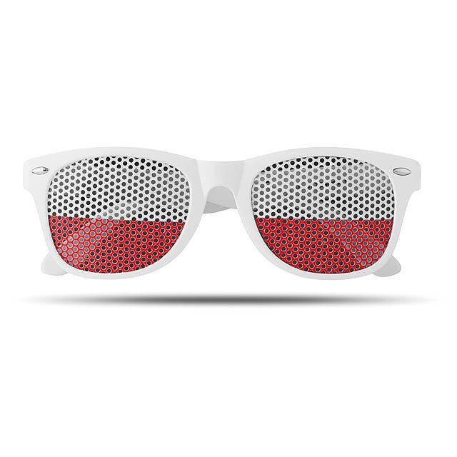 Sluneční brýle s vlajkami - Flag Fun - bílá