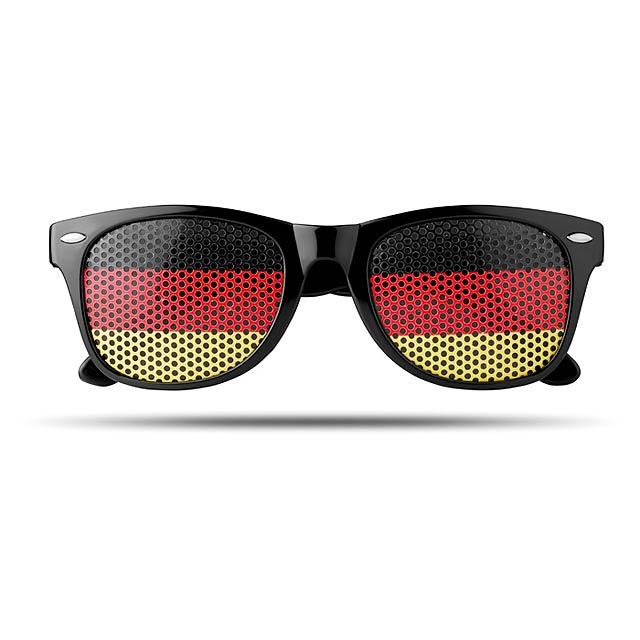 Sluneční brýle s vlajkami - Flag Fun - žlutá