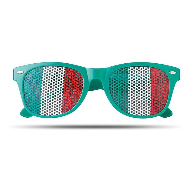 Sluneční brýle s vlajkami - Flag Fun - zelená