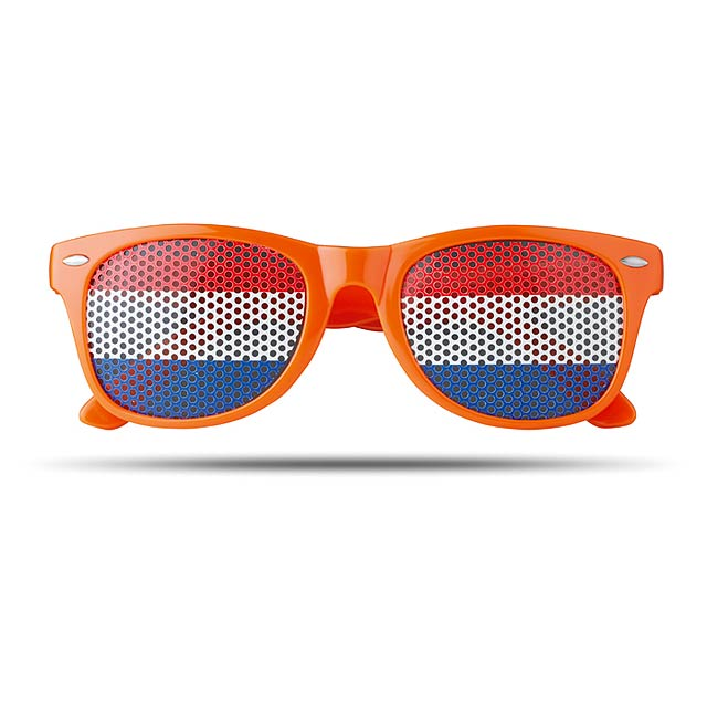 Sluneční brýle s vlajkami - Flag Fun - oranžová