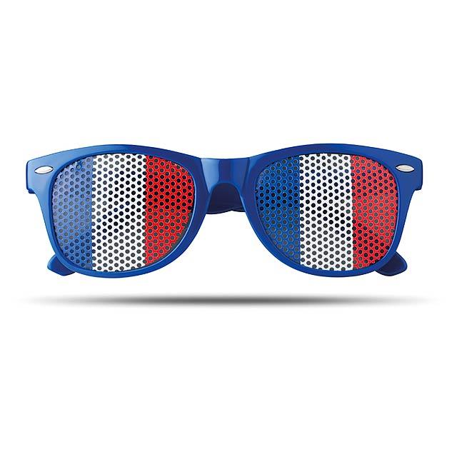 Sluneční brýle s vlajkami - Flag Fun - královsky modrá