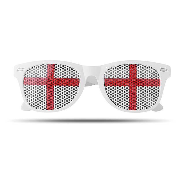 Sluneční brýle s vlajkami - Flag Fun - slonovinová