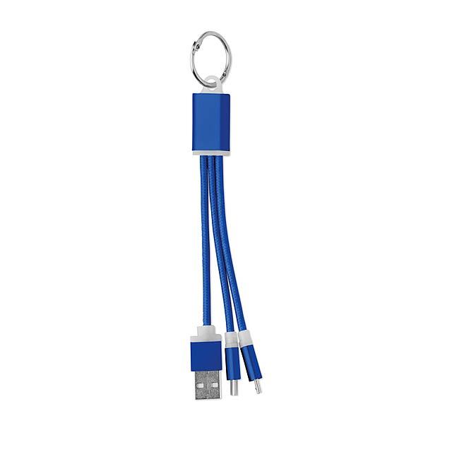 Klíčenka kabely - Rizo - královsky modrá