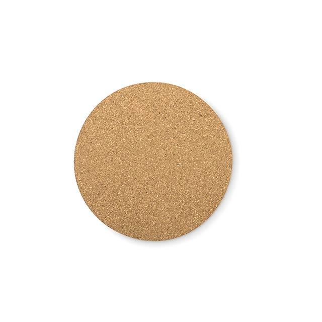 Korkové podložky kulaté - Bierpon - dřevo
