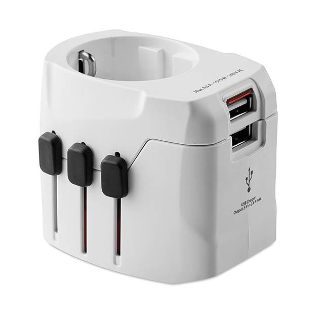 SKROSS# - cestovní adaptér - bílá