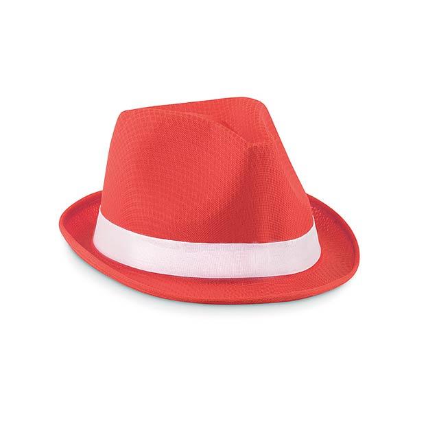 Barevný klobouk - Woogie - červená