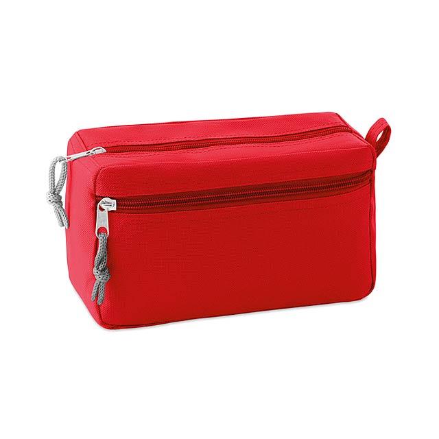 Kosmetická taštička bez PVC - New & Smart - červená