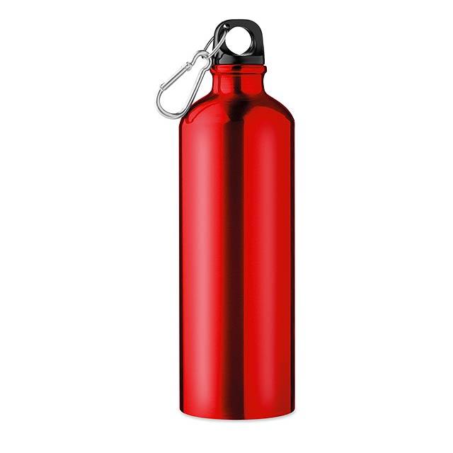 Hliníková láhev 750 ml - Big Moss - červená