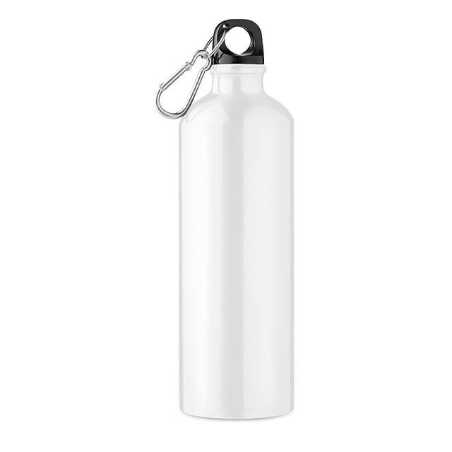 Hliníková láhev 750 ml - Big Moss - bílá