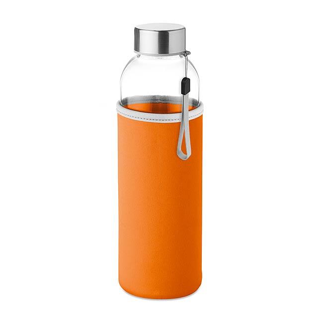 Skleněná láhev 500 ml - UTAH GLASS - oranžová