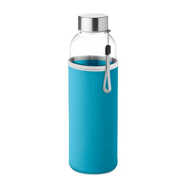Skleněná láhev 500 ml - UTAH GLASS - tyrkysová