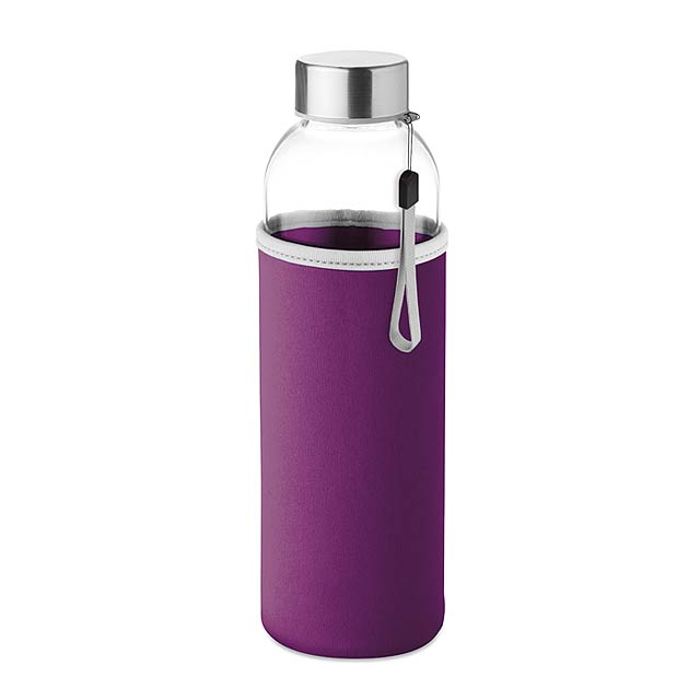 UTAH GLASS - Skleněná láhev 500 ml          - fialová