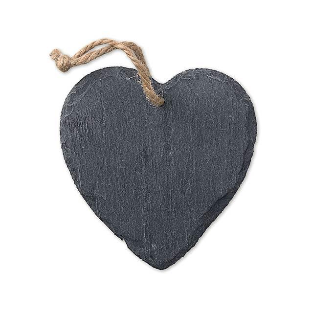 Slate Xmas hanger heart        MO9359-03 - black
