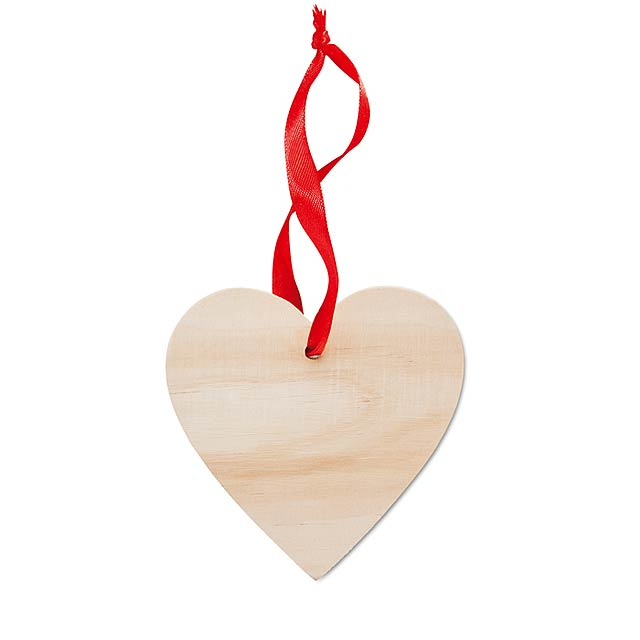 Heart shaped hanger            MO9376-40 - wood