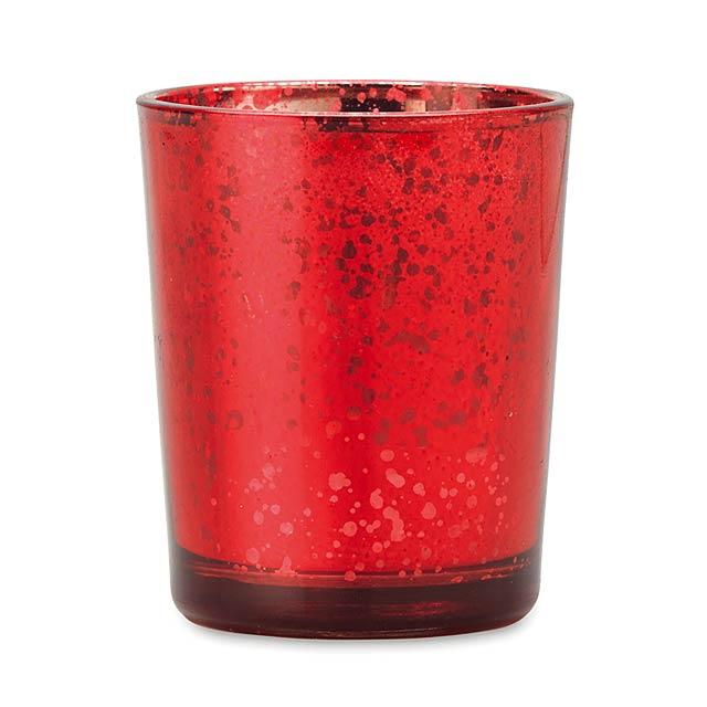 Stojánek na svíčku - PURPURIN - červená