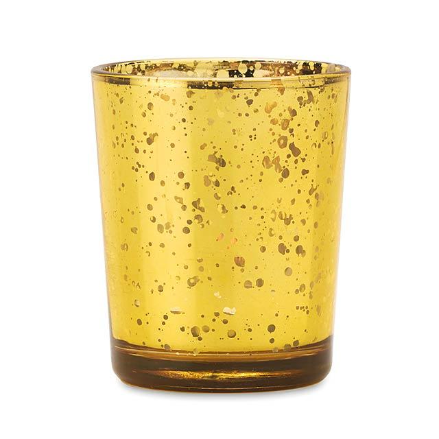 Stojánek na svíčku - PURPURIN - champagne