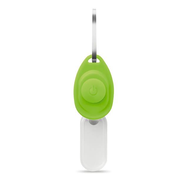 Bezpečnostní světýlko na zip - ZIPPY - citrónová - limetková